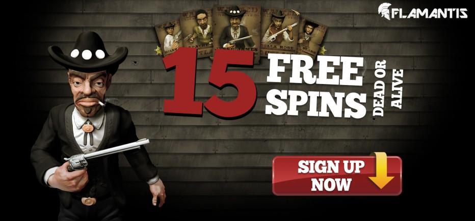 15 бесплатных вращений Flamantis Casino
