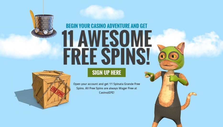 31 бесплатных вращений CasinoJEFE