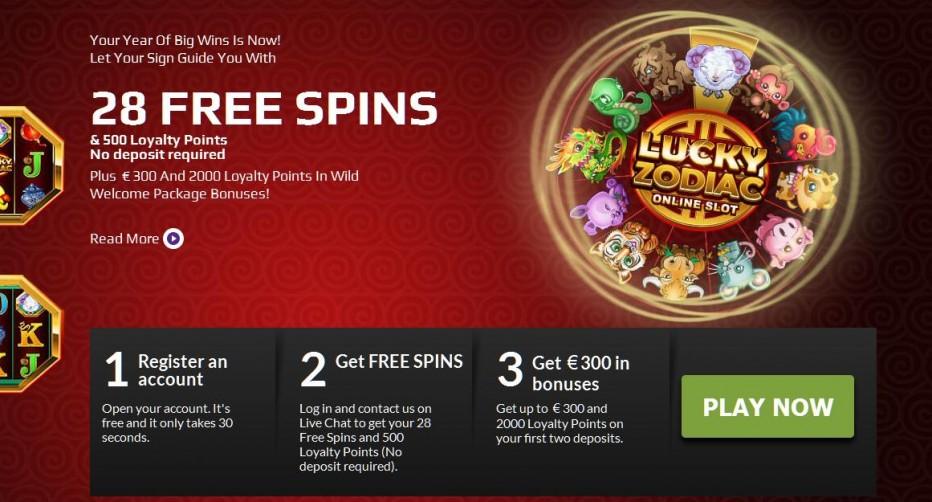 28 бесплатных вращений WildJackpots Casino