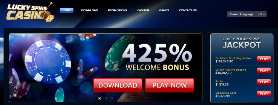 Бездепозитный бонус $70 Lucky Spins Casino