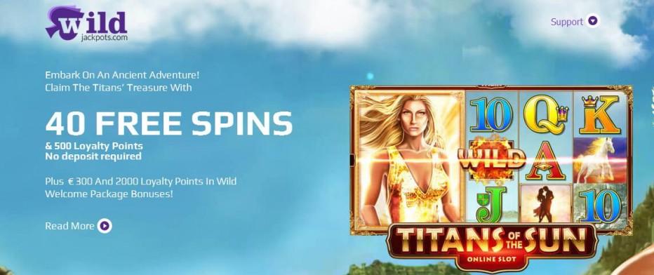40 бесплатных вращений WildJackpots Casino
