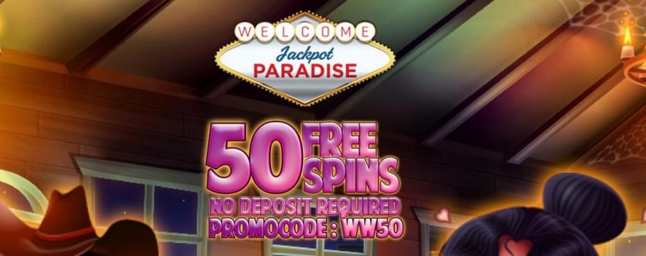 50 бесплатных вращений Jackpot Paradise Casino