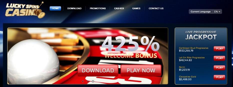 Бездепозитный бонус $72 Lucky Spins Casino