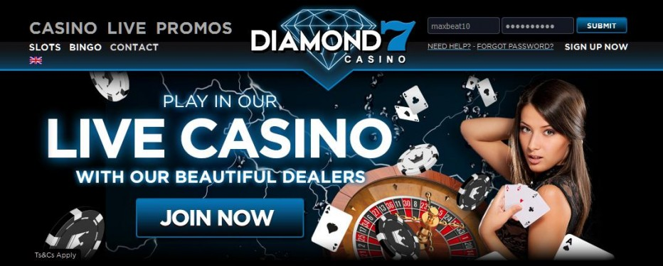 50 бесплатных вращений Diamond7 Casino