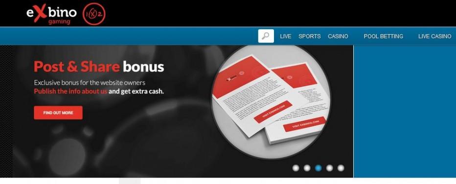 Бездепозитный бонус €20 Exbino Gaming Casino