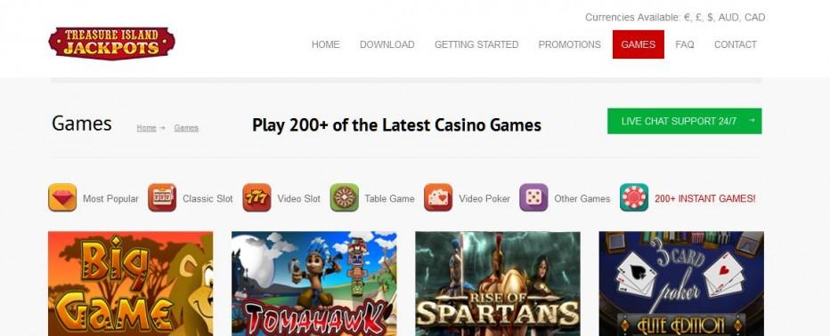 37 бесплатных вращений Treasure Island Jackpots Casino