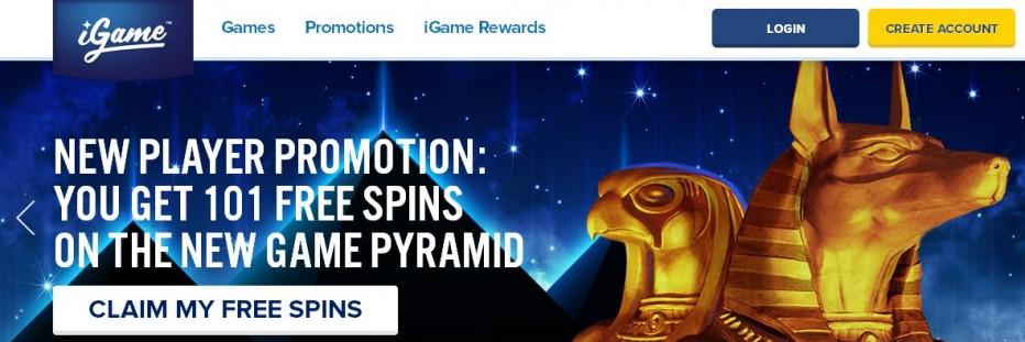 10 бесплатных вращений iGame Casino