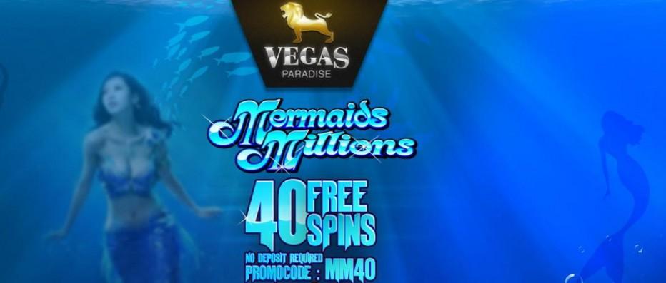 40 бесплатных вращений Vegas Paradise Casino