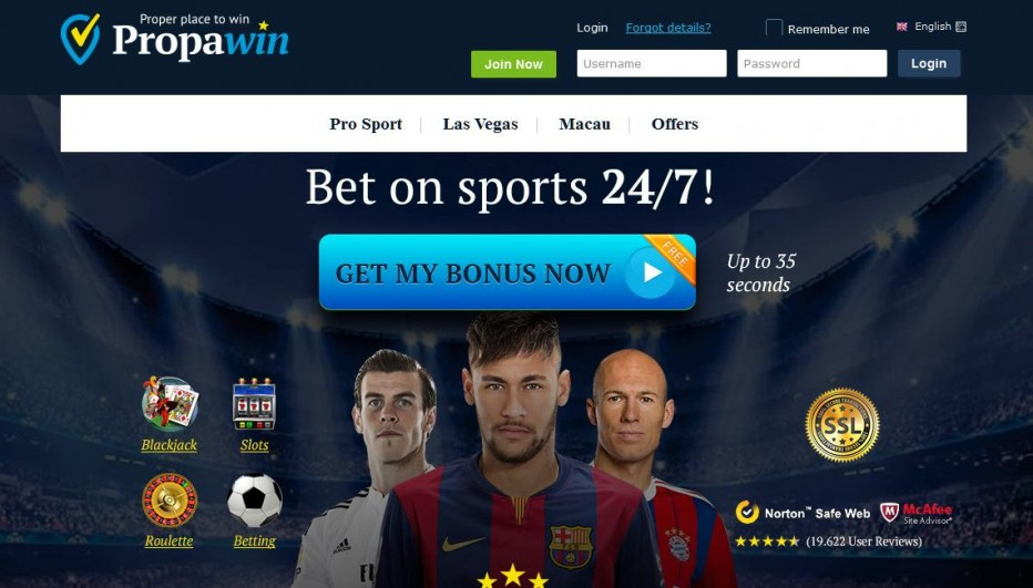 Бездепозитный бонус €10 PropaWin Casino