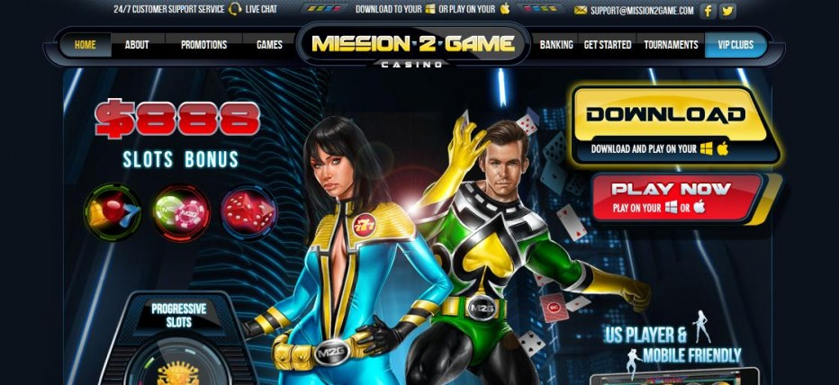Бездепозитный бонус $10 Mission2Game Casino