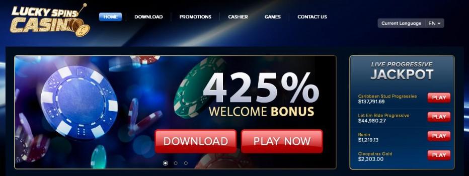 Бездепозитный бонус $20 Lucky Spins Casino