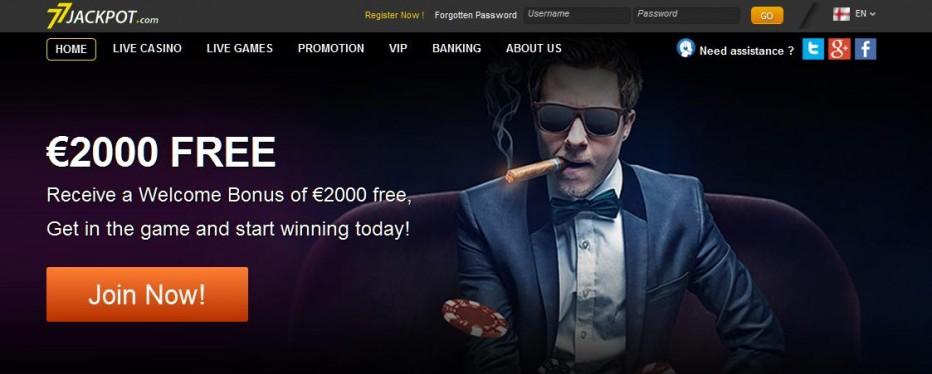 Бездепозитный бонус €7 77Jackpot Casino