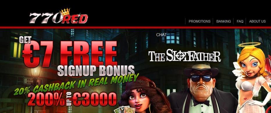 Бездепозитный бонус $7 770red Casino