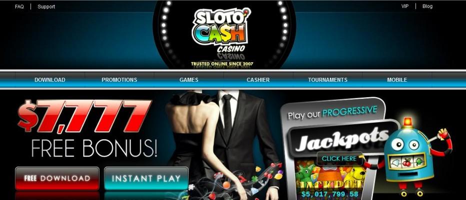 Бездепозитный бонус $100 SlotoCash Casino