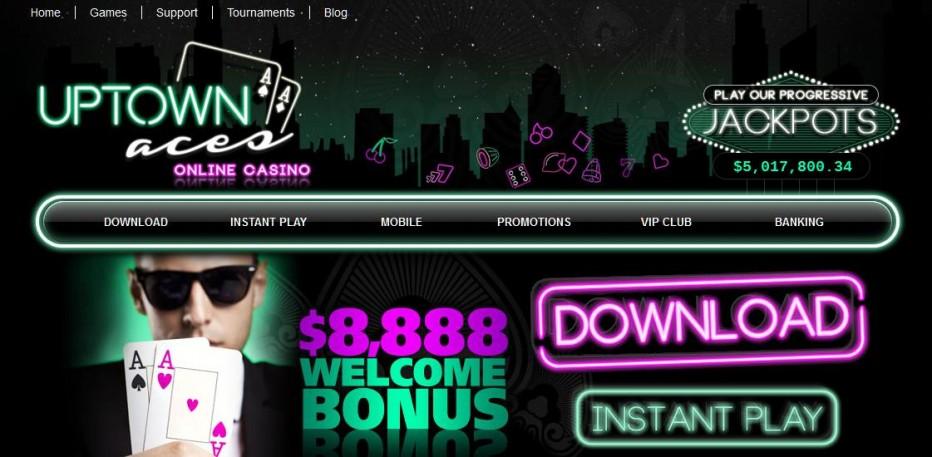 Бездепозитный бонус $100 UpTown Aces Casino