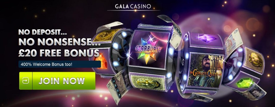 Бездепозитный бонус ₤20 Gala Casino