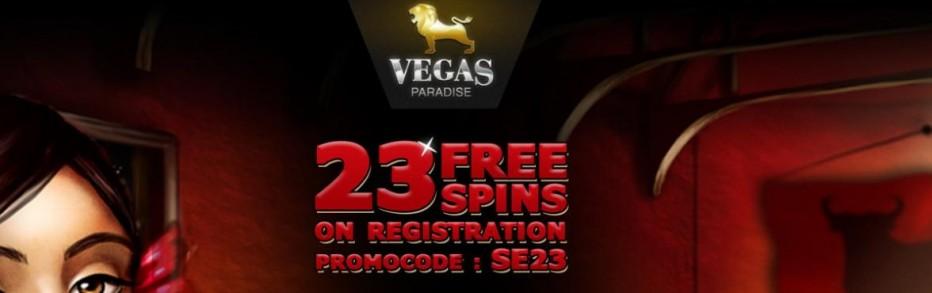 23 бесплатных вращений Vegas Paradise Casino