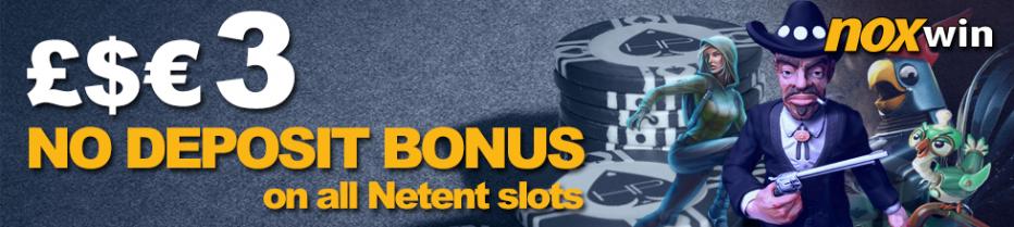Бездепозитный бонус €3 Noxwin Casino