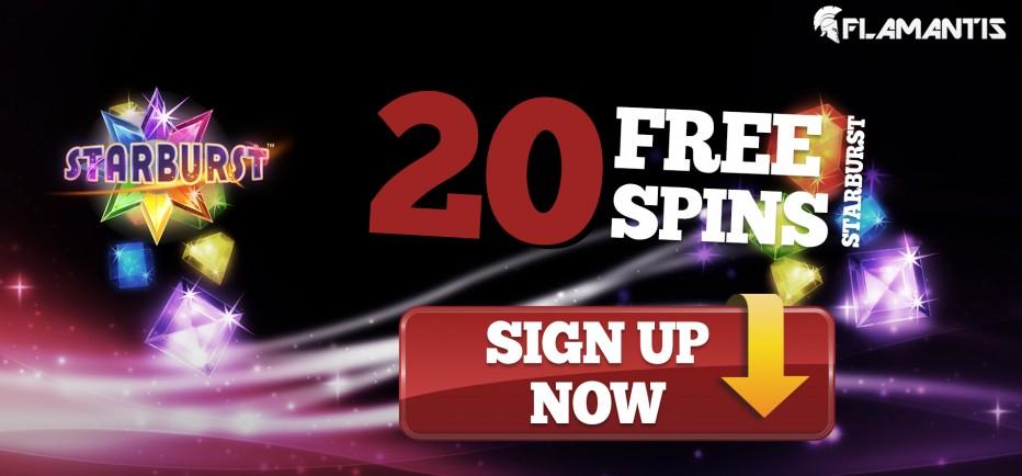 20 бесплатных вращений Flamantis Casino