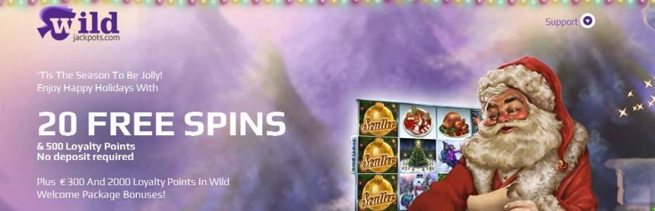 20 бесплатных вращений WildJackpots Casino