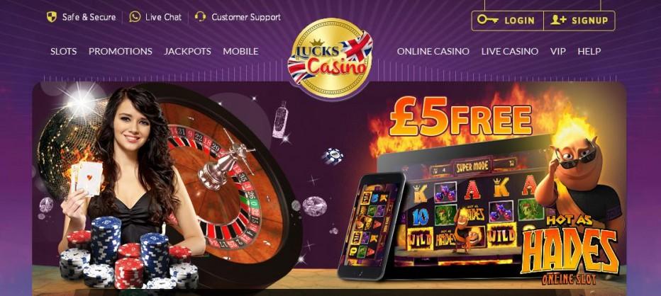 Бездепозитный бонус £5 Lucks Casino