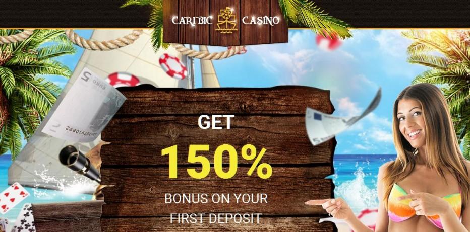 10 бесплатных вращений Caribic Casino
