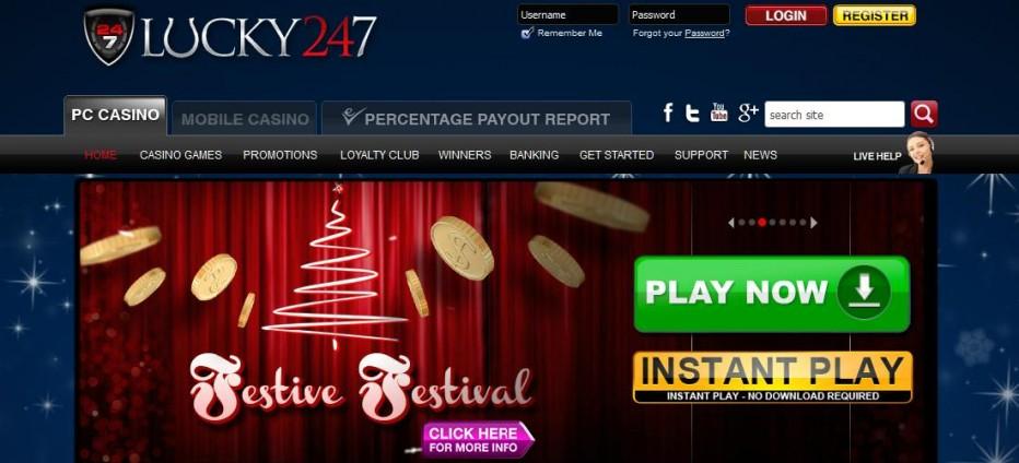 50 бесплатных вращений Lucky247 Casino