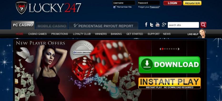 Бездепозитный бонус $7.77 Lucky247 Casino