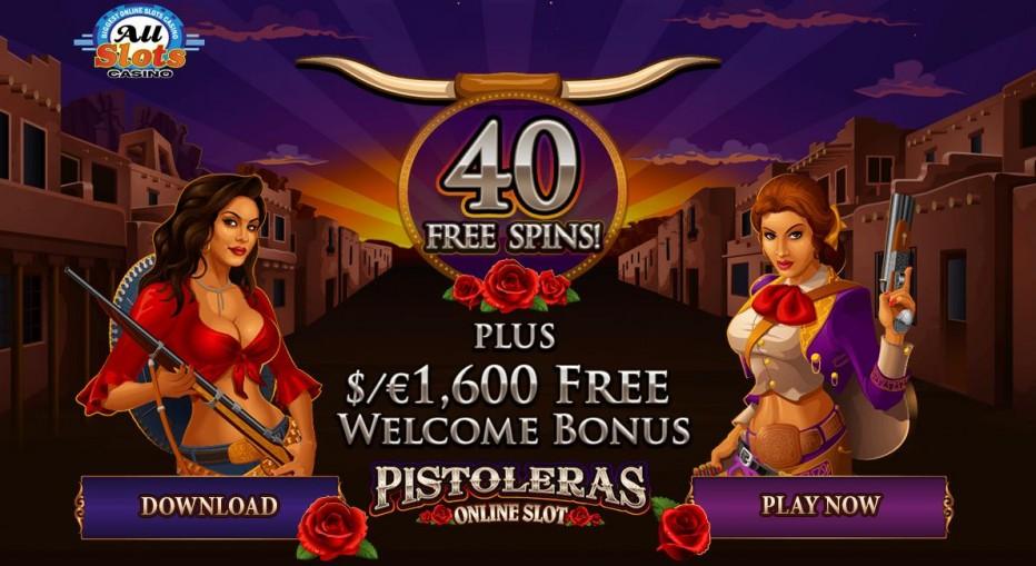 40 бесплатных вращений All Slots Casino