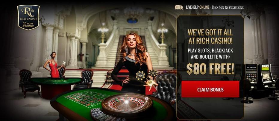 Бездепозитный бонус $55 Rich Casino