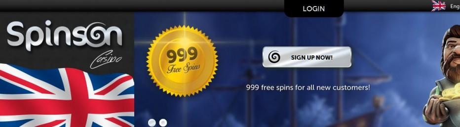 10 бесплатных вращений Spinson Casino