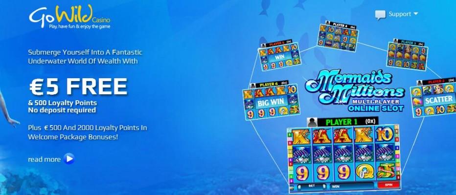 Бездепозитный бонус €5 GoWild Casino
