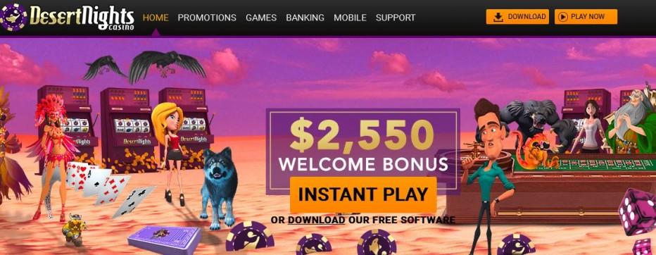 FreePlay бонус $10 Desert Nights Rival Casino