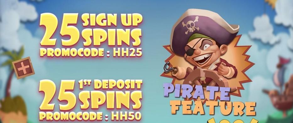 25 бесплатных вращений Paradise Casino