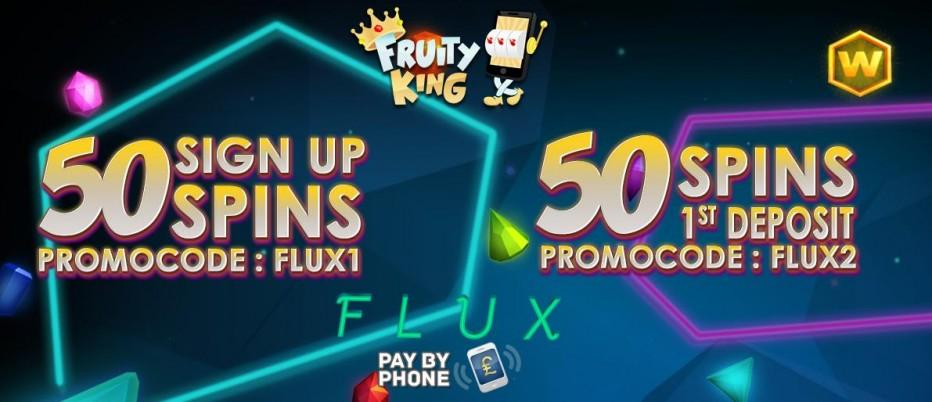 50 бесплатных вращений Fruity King Casino