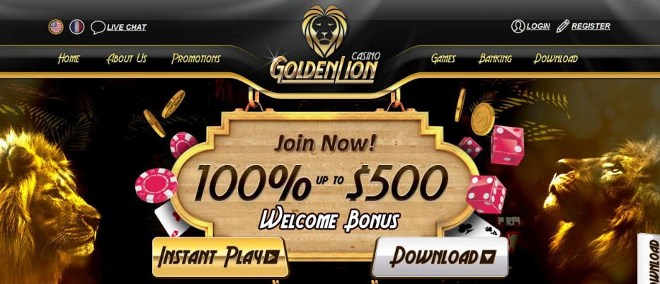 Бездепозитный бонус $10 Golden Lion Casino