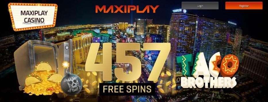 57 бесплатных вращений MaxiPlay Casino
