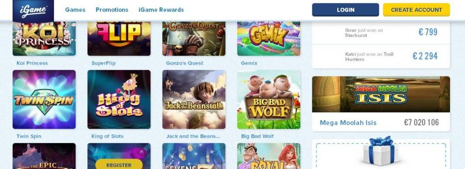 101 бесплатных вращений iGame Casino