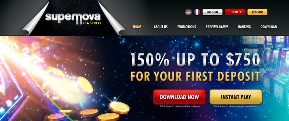 Бездепозитный бонус $20 Supernova Casino
