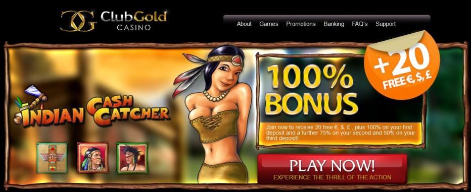 Бездепозитный бонус €20 Club Gold Casino