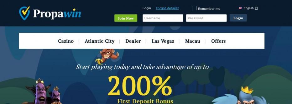 40 бесплатных вращений PropaWin Casino
