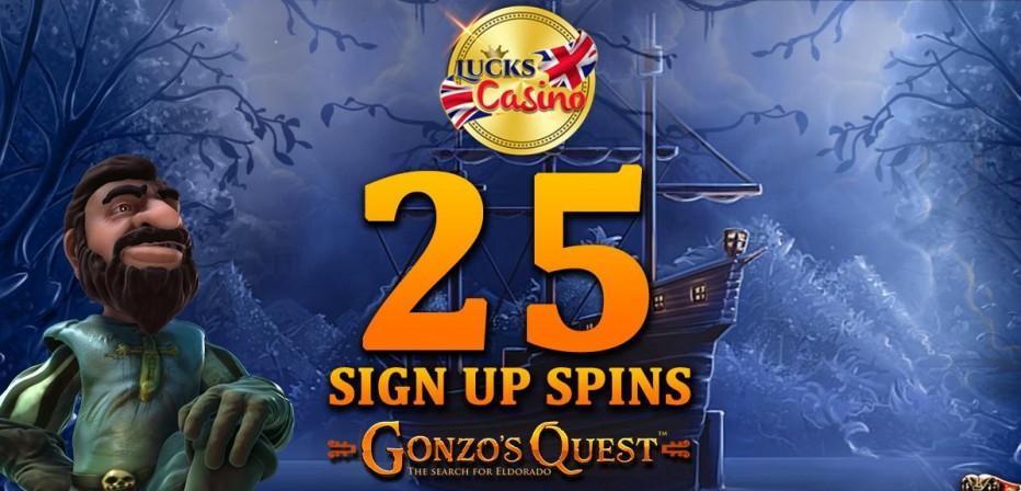 25 бесплатных вращений Lucks Casino