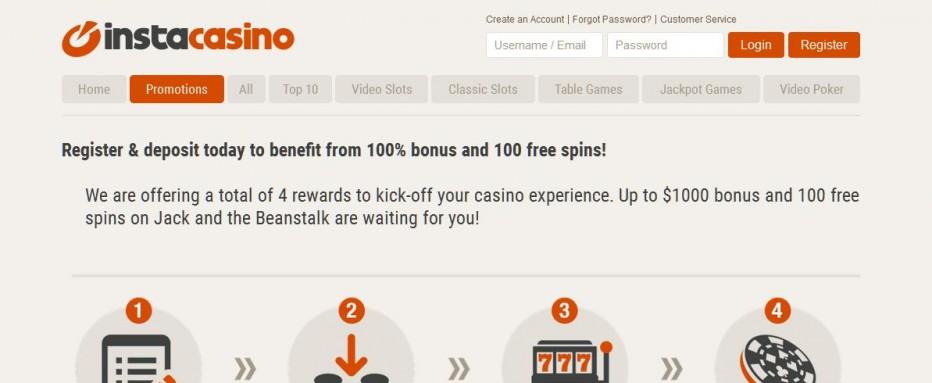 50 бесплатных вращений Insta Casino