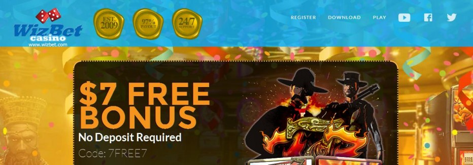 Бездепозитный бонус $7 WizBet Casino