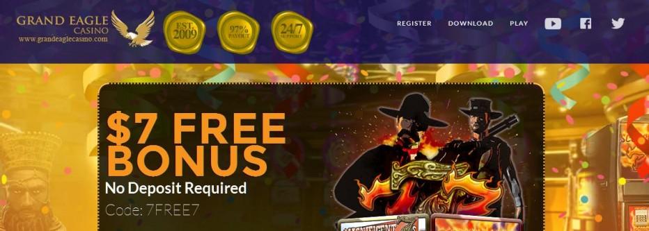 Бездепозитный бонус $7 Grand Eagle Casino