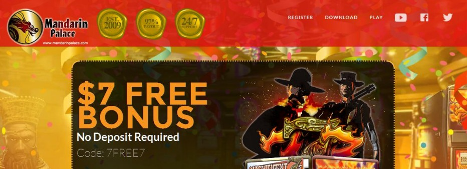 Бездепозитный бонус $7 Mandarin Palace Casino