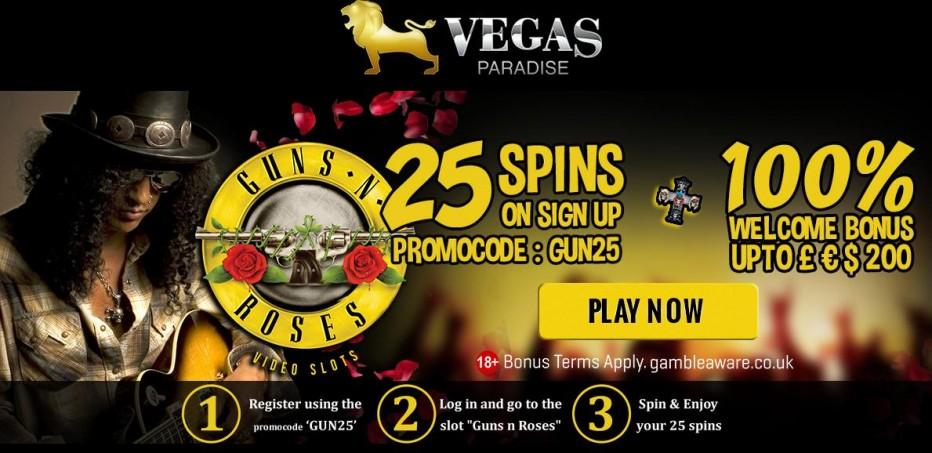 25 бесплатных вращений Vegas Paradise Casino