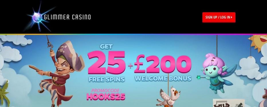 25 бесплатных вращений Glimmer Casino