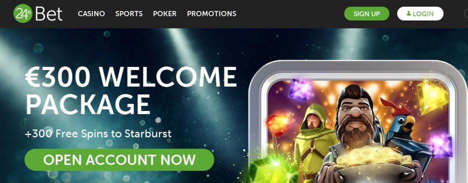 50 бесплатных вращений 24hBet Casino