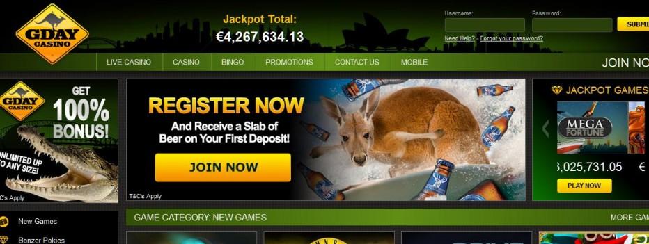 50 бесплатных вращений Gday Casino